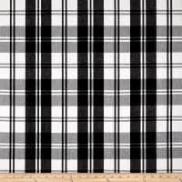 Laura & Kiran Classic Plaid Black/White Canvas