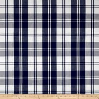 Laura & Kiran Classic Plaid Navy/White