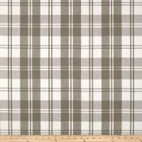 Laura & Kiran Classic Plaid Taupe/White Canvas