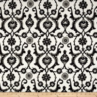 Laura & Kiran Turkish Tile Print Jet/White Canvas