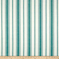 Laura & Kiran Coastal Stripe Turq Canvas