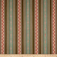 Laura & Kiran Thunderbolt Southwest Stripe Red Multi
