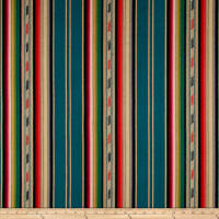 Laura & Kiran Bandolier Southwest Stripe Teal Multi