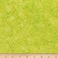 Anthology Batik Roses Chartreuse