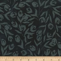 Anthology Batik Tulips Black