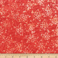 Anthology Batik Star flowers Poppy