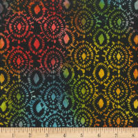 "Anthology Batiks Medallion 108"" Wide Back Rainbow"