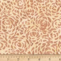 "Anthology Batiks Abstract Rose 108"" Wide Back Tan"