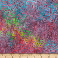 "Anthology Batiks 108"" Wide Back Abstract Rose Candy"