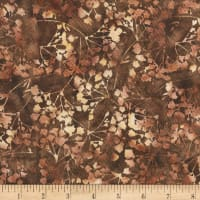 "Anthology Batiks Ferns 108"" Wide Back Brown"