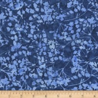 "Anthology Batiks Ferns 108"" Wide Back Blue"