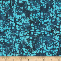 "Anthology Batiks Ferns 108"" Wide Back Turquoise"