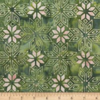 Anthology Batiks Geo Star Green