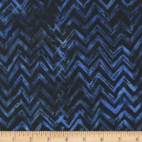 Anthology Batiks Chevron Deep Sea