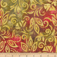 Anthology Batiks Spaced Floral Vintage