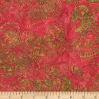 Anthology Batiks Tribal Butterfly Red