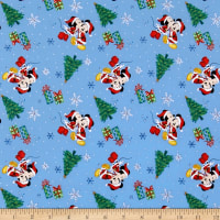 Disney Mickey And Minnie Christmas Love Light Blue