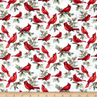 Springs Creative Susan Winget Christmas Cardinal Multi