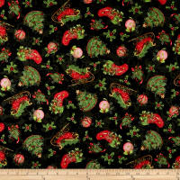 Susan Winget Christmas Holly Vines Multi