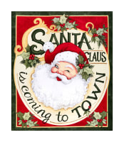 "Springs Creative Christmas Retro Santa Claus 36""Panel Multi"