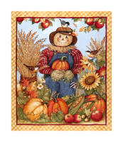 "Springs Creative Harvest Harvest Scarecrow 36"" Panel Multi"