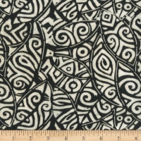 Anthology Batiks Rayon Challis Tribal Stamp Zebra