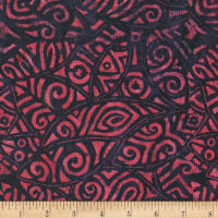 Anthology Batiks Rayon Challis Tribal Stamp Date