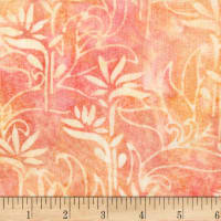 Anthology Batiks Rayon Challis Stalk Coral