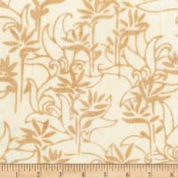 Anthology Batiks Rayon Challis Stalk Cream