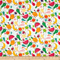 Andover/Makower Fruity Friends Fruity Friends Scatter White