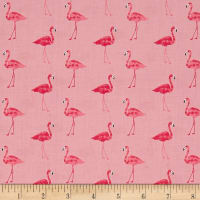 Andover/Makower Fruity Friends Flamingo Pink
