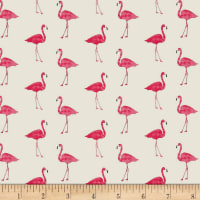 Andover/Makower Fruity Friends Flamingo White