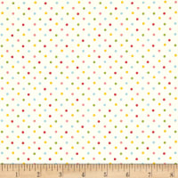 Andover/Makower Fruity Friends Multi Dot White