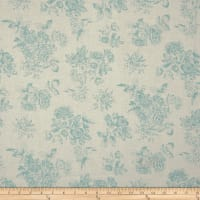 Andover/Makower Katie Jane Toile Teal
