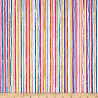 Andover/Makower Kitty Chalk Stripe Multi