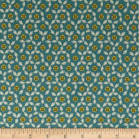 Andover Maling Road Button Flowers Blue