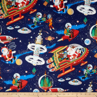 Alexander Henry Santa in Space Dark Blue