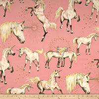 Alexander Henry Stars of the Unicorn Pink