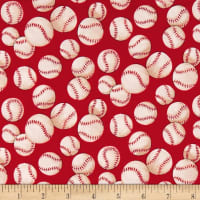 Alexander Henry Nicole's Prints  Baseball Red