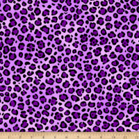 QT Fabrics VIP Cheetah Fashion Skin Purple