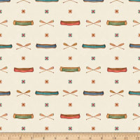 QT Fabrics Dan Morris Backcountry Canoes Light Cream
