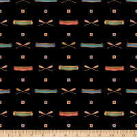 QT Fabrics Dan Morris Backcountry Canoes Black