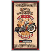"QT Fabrics Rule The Road Rule The Road 24"" Panel Cream"