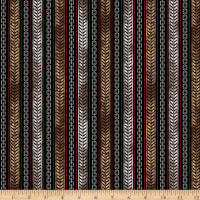 QT Fabrics Rule The Road Tire Track & Chain Stripe Black