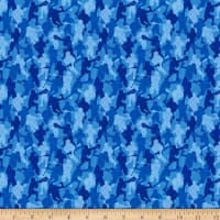 QT Fabrics Dan Morris Stick With It Lacrosse Camo Blue