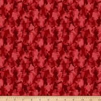 QT Fabrics Dan Morris Stick With It Lacrosse Camo Red