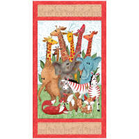 "QT Fabrics Wild Things Animal 24"" Panel Multi"