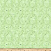 QT Fabrics Wild Things Geometric Flower Light Green