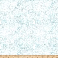 QT Fabrics Wild Things Scroll Light Dusty Blue
