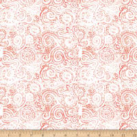 QT Fabrics Wild Things Scroll Tomato